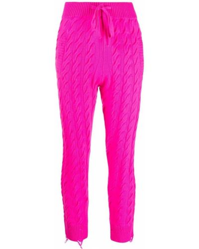 Шерстяные спортивные брюки - розовые Laneus