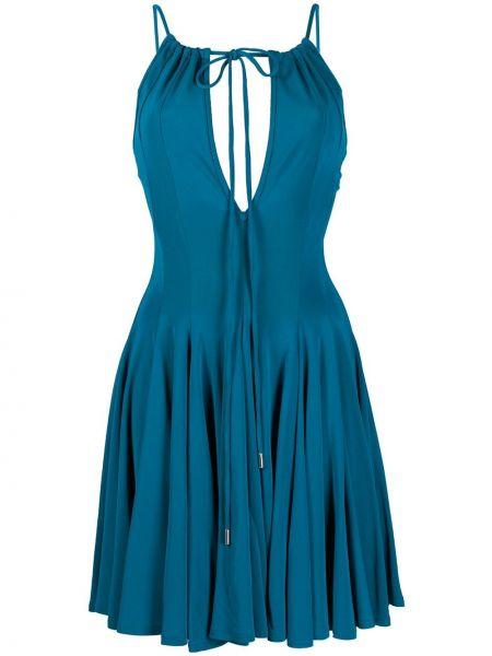 Платье на бретелях плиссированное Dsquared2