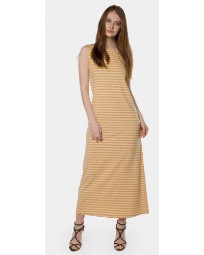 Оранжевое платье весеннее Mr520