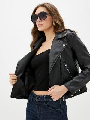 Кожаная куртка - черная Pimkie