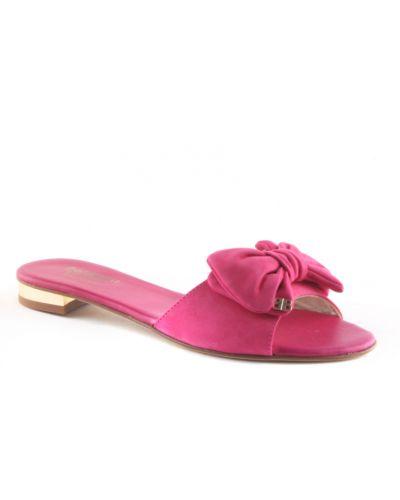 Шлепанцы на каблуке розовый Baldinini