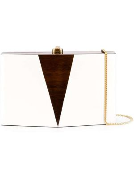 Золотистая белая сумка металлическая с подкладкой Rocio