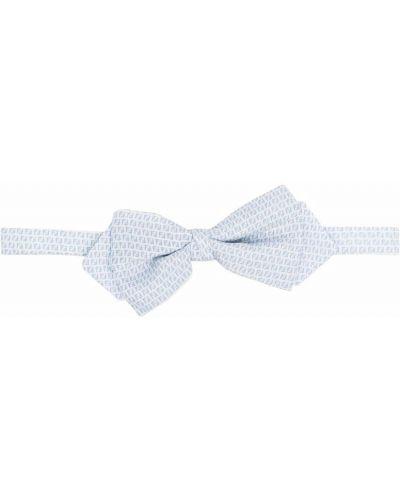 Шелковый белый галстук-бабочка с бабочкой Fendi Kids