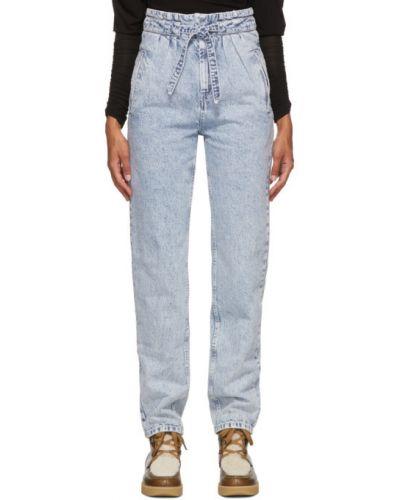 Biały jeansy na wysokości z kieszeniami Isabel Marant