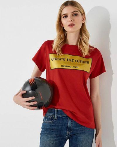 Красная футболка Trussardi Jeans