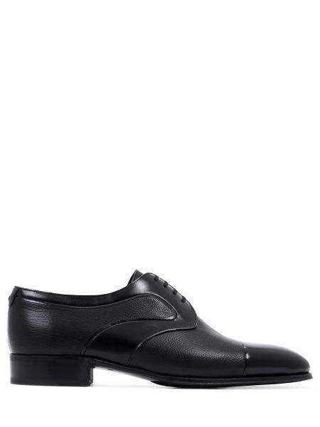 Кожаные классические черные классические туфли на каблуке Artioli