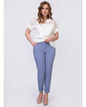 Повседневные летние брюки с карманами с манжетами на крючках Diolche