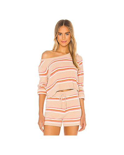 Текстильный розовый свитер Lspace