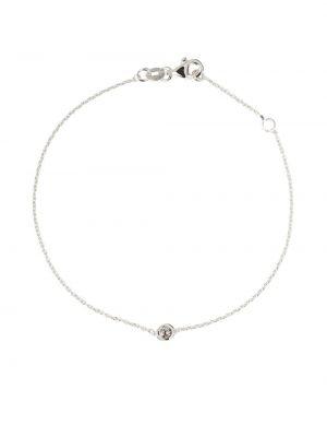 Biała złota szeroki bransoletka z diamentem Botier