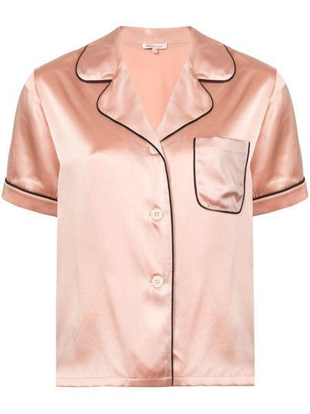 Шелковая пижама - розовая Morgan Lane