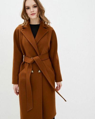 Коричневое пальто двубортное Florens