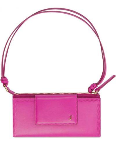 Кожаная сумка - розовая Jacquemus