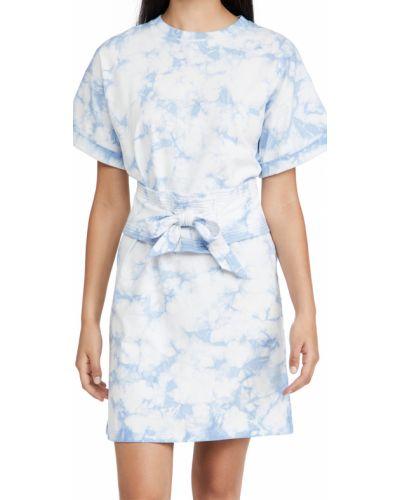 Текстильное платье с поясом Rebecca Minkoff