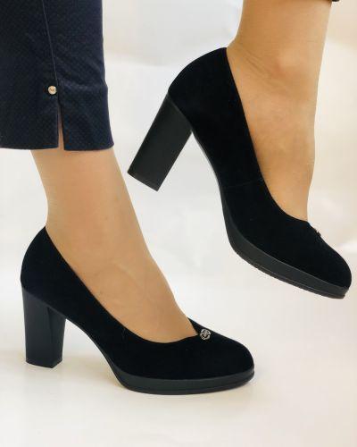 Лодочки на каблуке - черные Polann