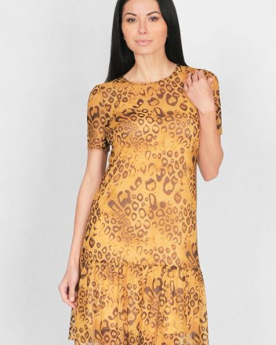 Платье весеннее желтый Lila