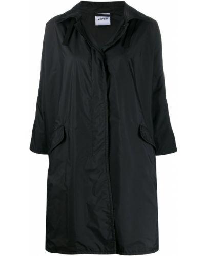 Дождевик черный с карманами Aspesi