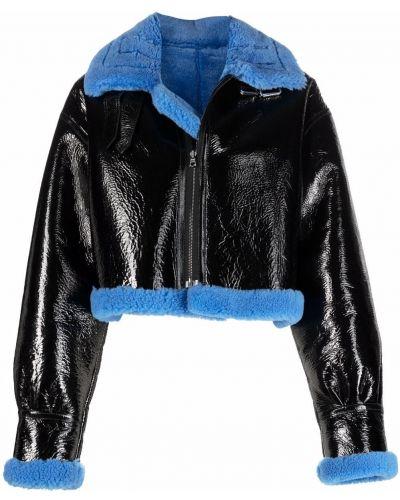Черная кожаная куртка David Koma