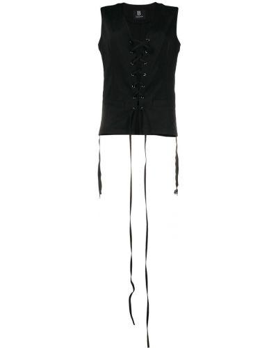 Черная шерстяная жилетка без рукавов Yohji Yamamoto