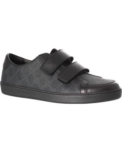 Кожаные кеды - черные Gucci