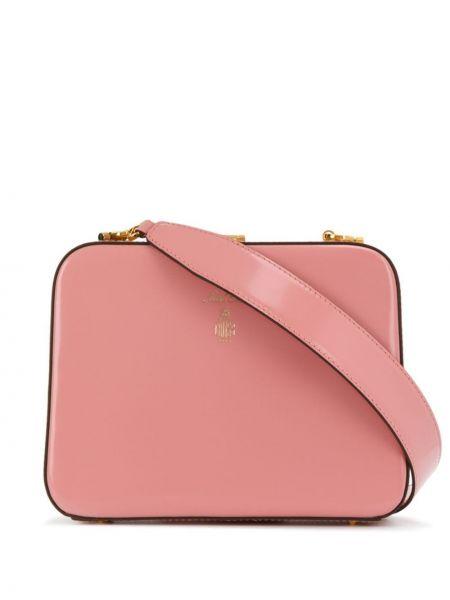 Золотистая розовая сумка через плечо на молнии с карманами Mark Cross