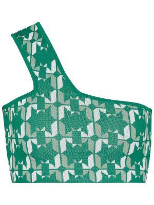 Zielony crop top z wiskozy Dodo Bar Or