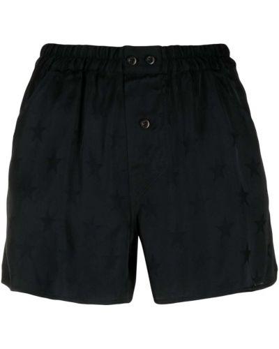 Черные шорты с поясом из вискозы Laneus