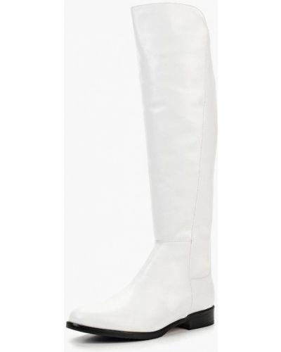 Ботфорты на каблуке кожаные Shoobootique