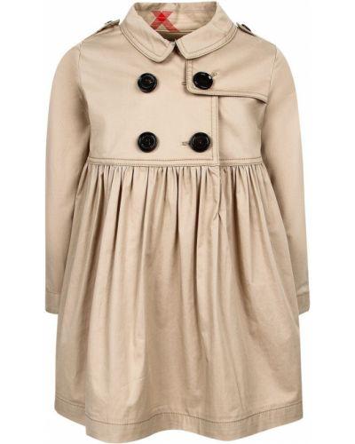 Пышное платье с рукавами длинное Burberry Children