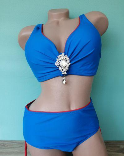 Купальник раздельный - голубой Sisianna