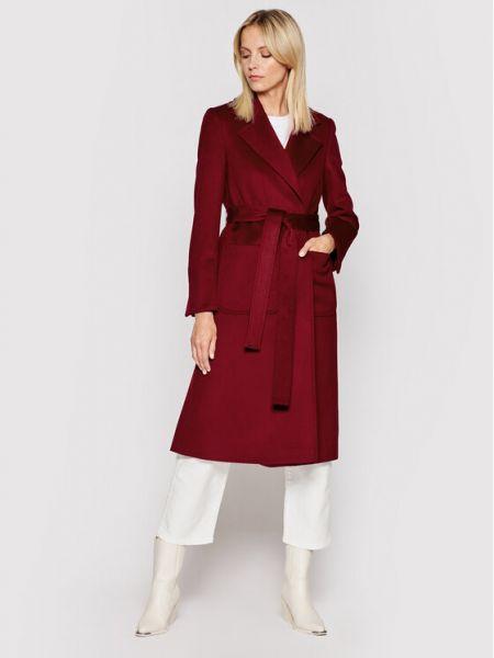 Płaszcz wełniany - bordowy Max&co.