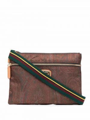Коричневая сумка на плечо Etro