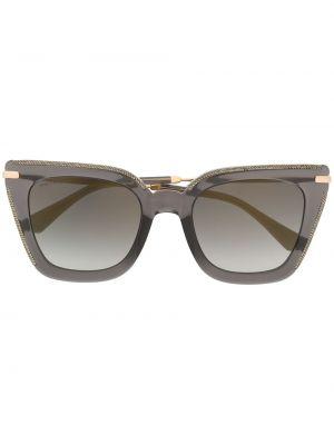 Черные солнцезащитные очки квадратные металлические Jimmy Choo Eyewear