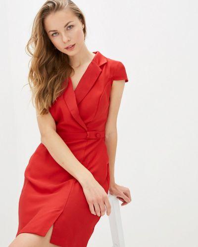 Платье с запахом осеннее Naf Naf