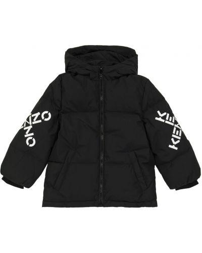 Стеганая куртка - черная Kenzo Kids