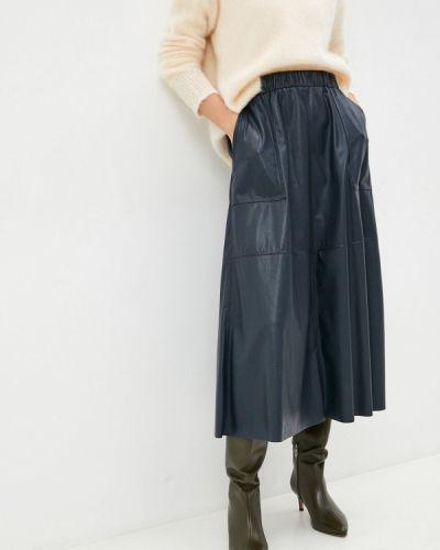 Кожаная юбка - синяя Max&co