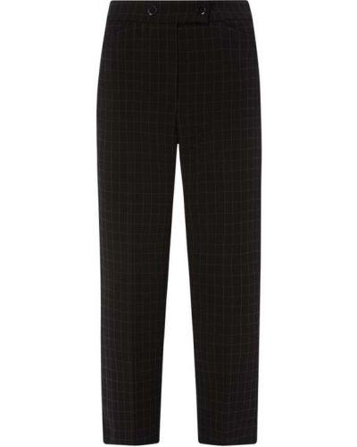 Czarne spodnie w kratę Riani