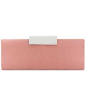 Деловая розовая сумка Sergio Rossi