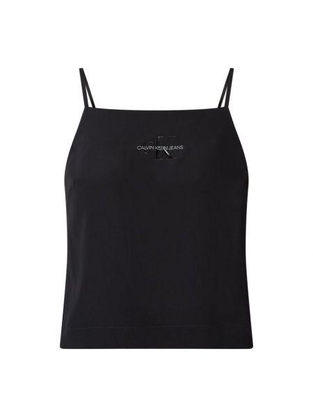 Światło czarny top Calvin Klein Jeans