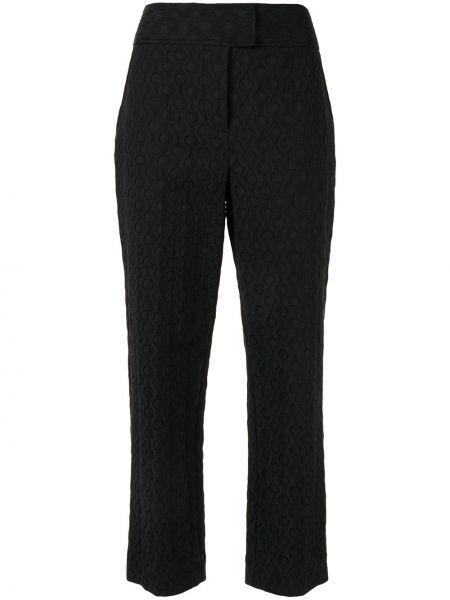 Czarne spodnie z wysokim stanem bawełniane Rebecca Taylor