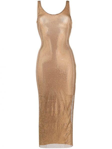 Платье миди приталенное с рукавами Alessandra Rich