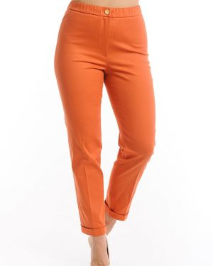 Зауженные укороченные брюки с воротником с поясом с открытым носком Merlis