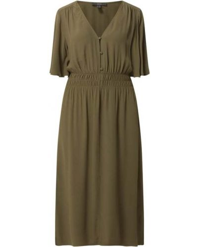 Zielona sukienka z dekoltem w serek Esprit Collection