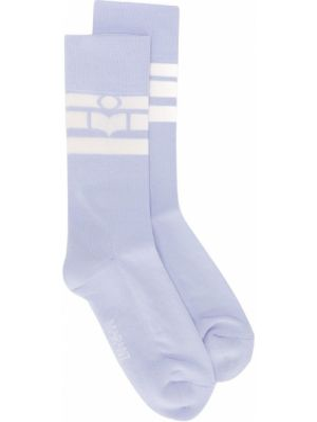Синие хлопковые вязаные носки Isabel Marant étoile