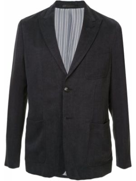 С рукавами удлиненный пиджак с карманами на пуговицах Giorgio Armani