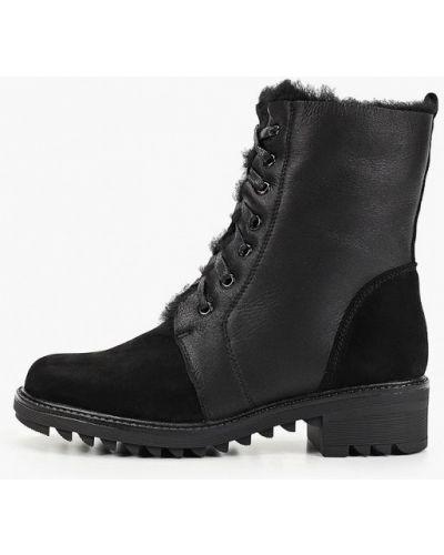Велюровые черные ботинки Nexpero