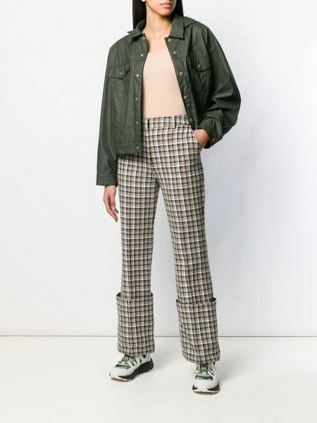 Классический пиджак прямой зеленый Mm6 Maison Margiela