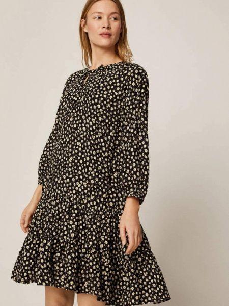 Платье прямое черное Oysho