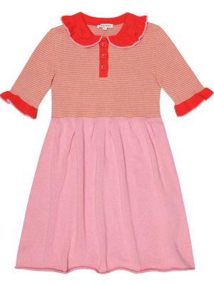 Sukienka różowy w paski Caramel
