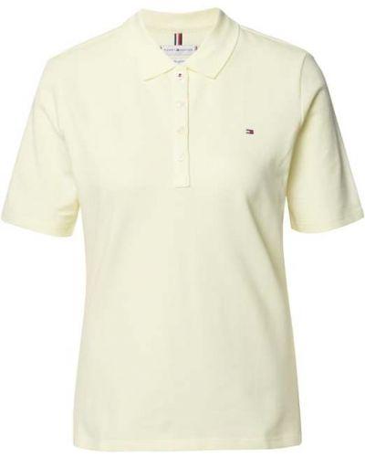 Żółty t-shirt krótki rękaw bawełniany Tommy Hilfiger
