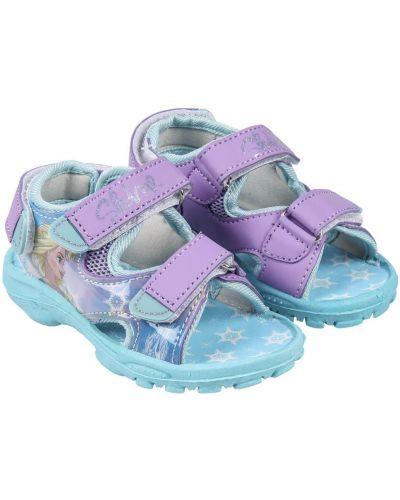 Liliowe sandały sportowe materiałowe Frozen